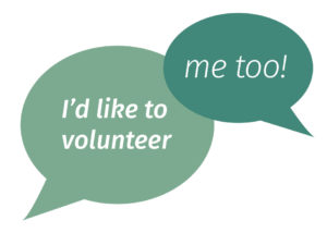 """thought bubbles """"i'd like to volunteer"""" and """"me too"""""""